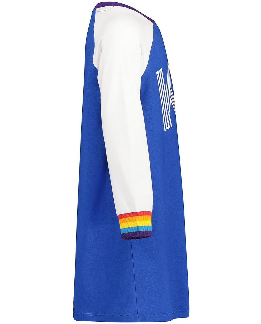 Nachtwäsche - Aqua - Kleid mit Aufschrift